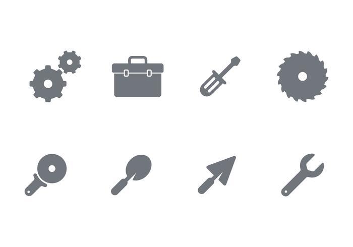 Conjunto de iconos de suministro de manualidades vector
