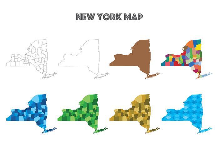 new york map vektorer