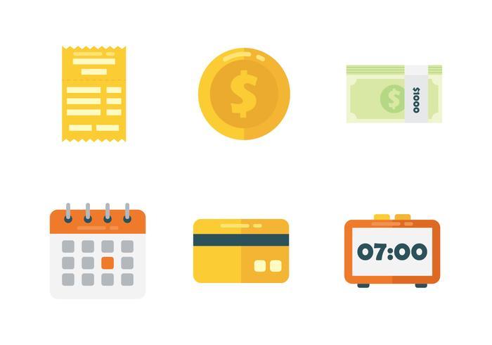 Conjunto de ícones da folha de pagamento