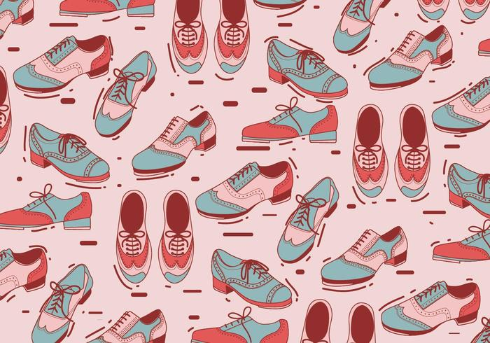 Tap Shoes Pattern Vector