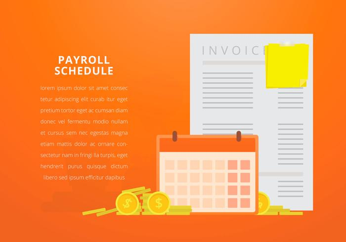 Business Payroll with Editable Text vector