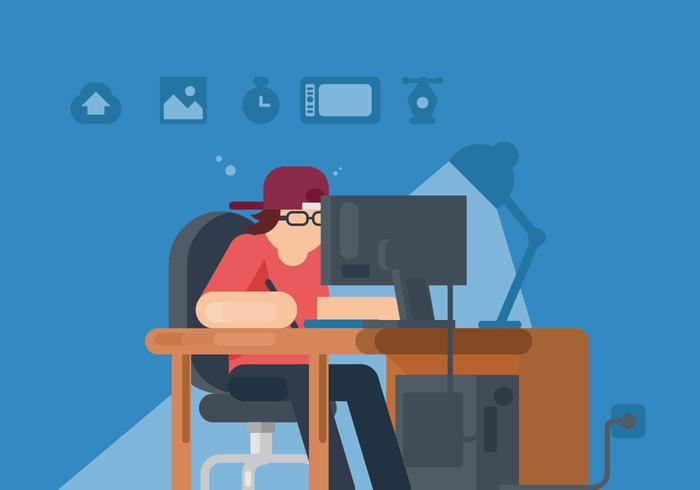 Internet Creator Illustration