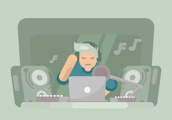 illustration de créateur de musique