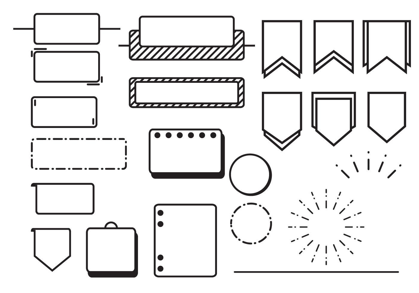 bullet journal vectors