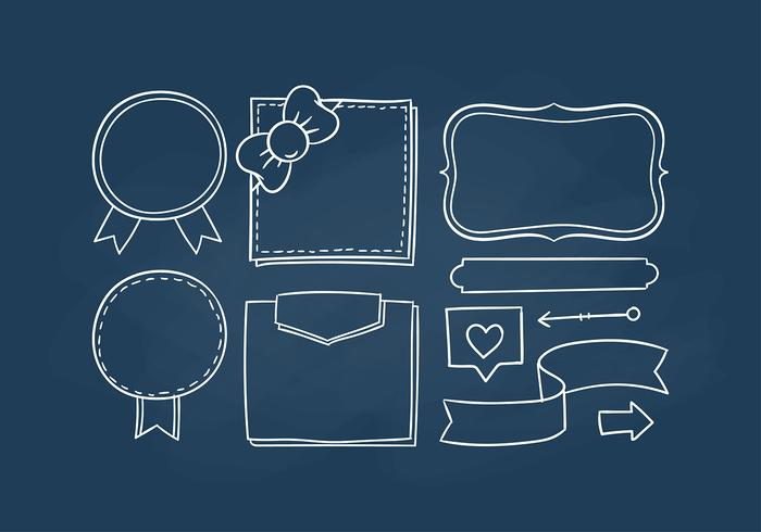 Bullet Journal Chalk Board Style Free Vectors