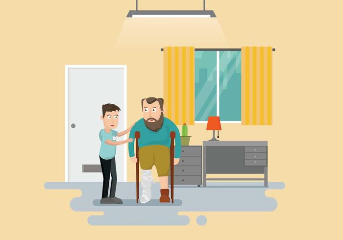 Free Caretaker Illustration