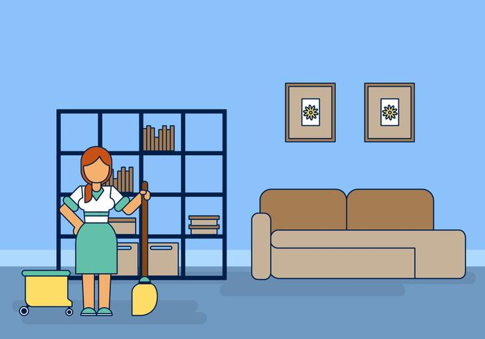 Housemaid Caretaker Vector