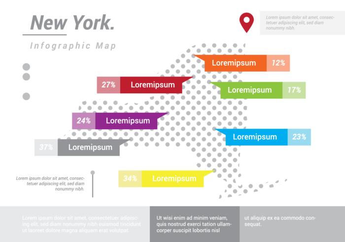 New York Map Infographic