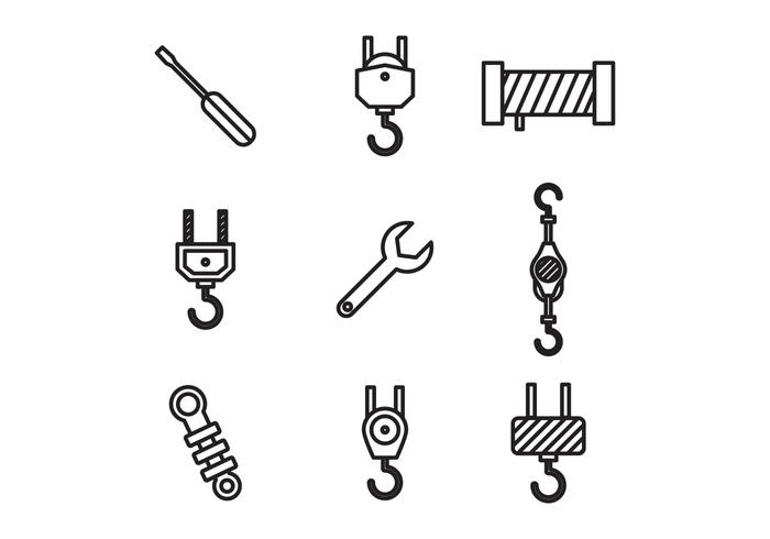 Outlined Construction Elements vector
