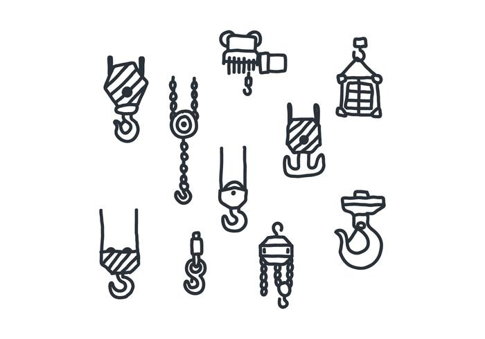 Set Of Doodled Winches