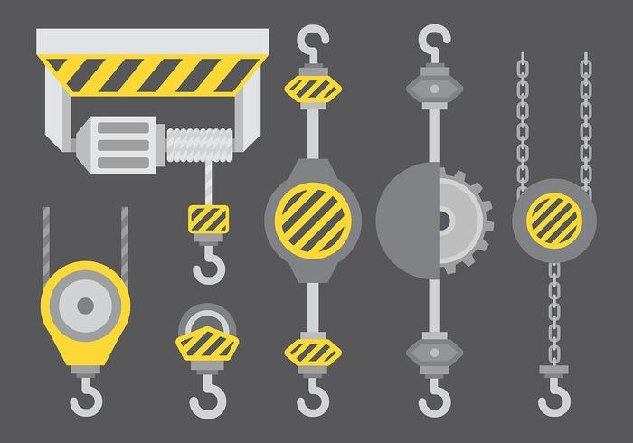 Winch Vector Icons