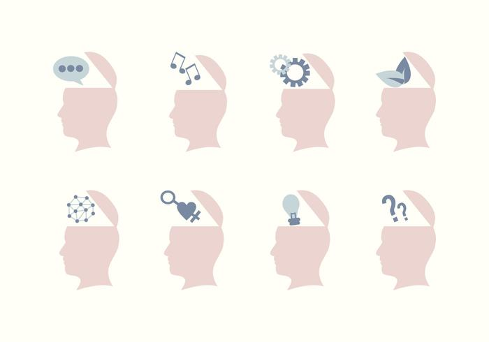 Ícones de mente aberta