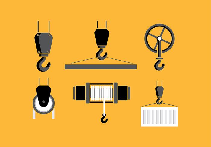 Winch Set Free Vector