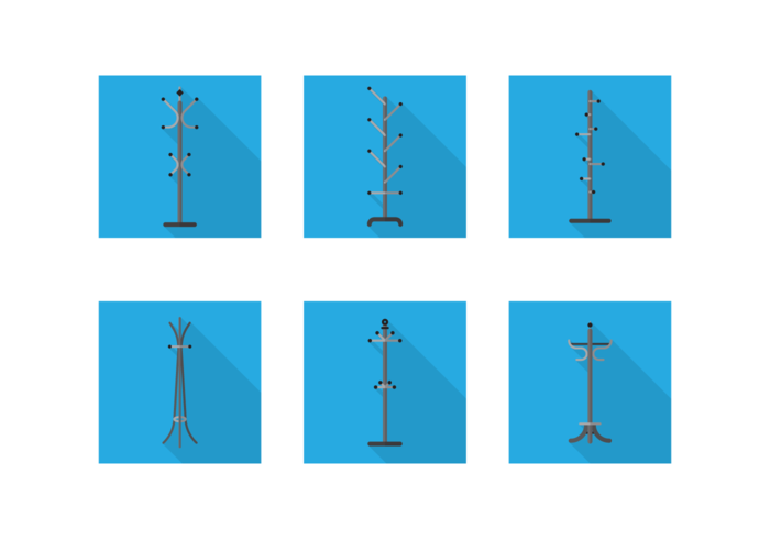 Coat Stand Free Vector Pack