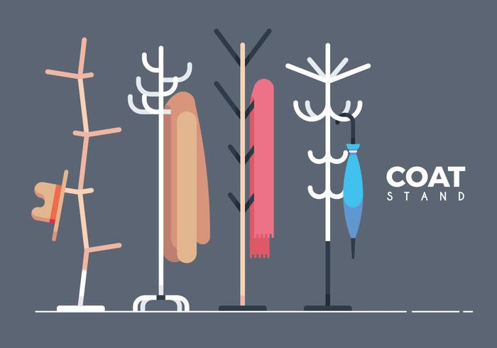 Coat Stand Collection Vector Illustration
