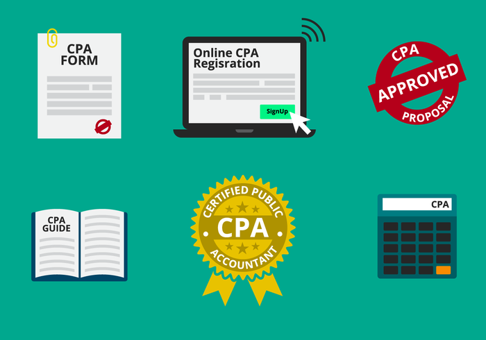 CPA eller Certified Public Accountant Vector