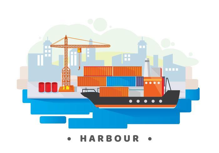 Illustrazione del porto vettore