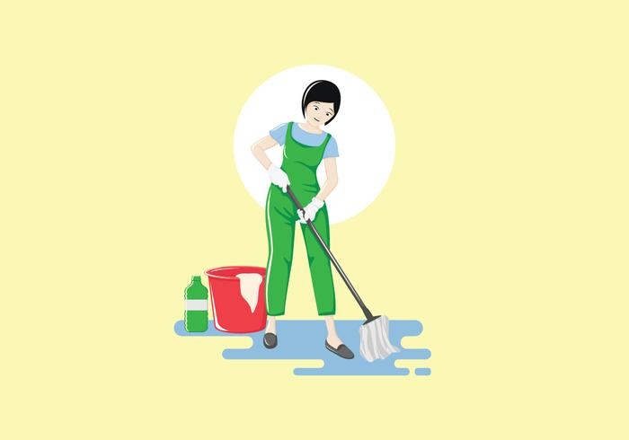 Female Professional Cleaning Service