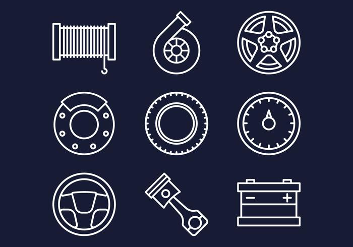 Carshop Web Icons Set vector