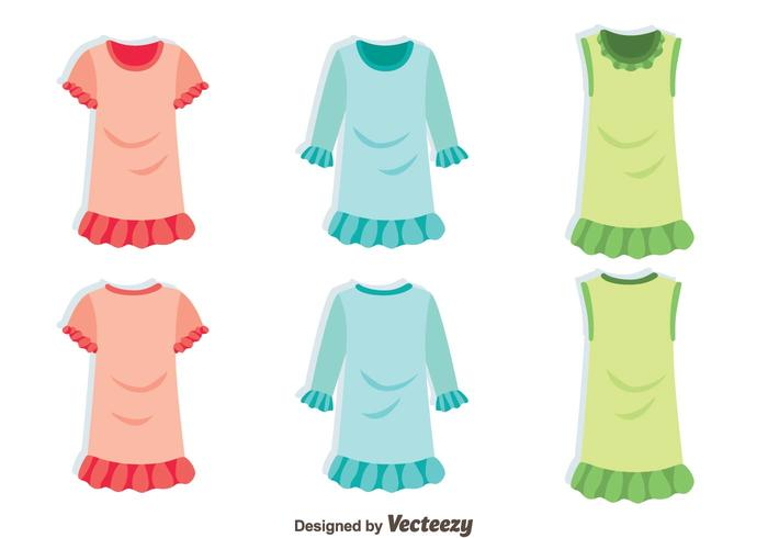 GIrl Clothes With Frills Vector