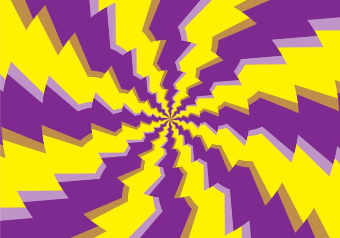 Ilusão de hipnose redonda psicodélica