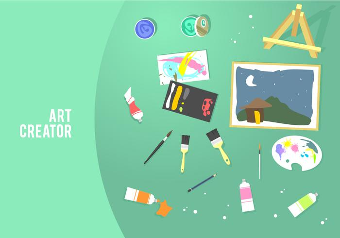 creador de arte herramientas gratis vector