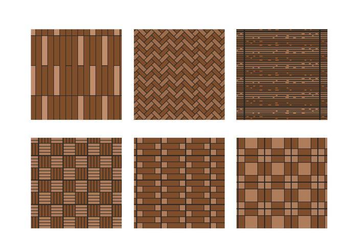 Laminaat patroon vector set