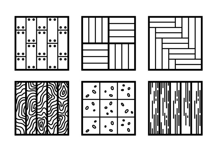Laminate Flat Icons vector