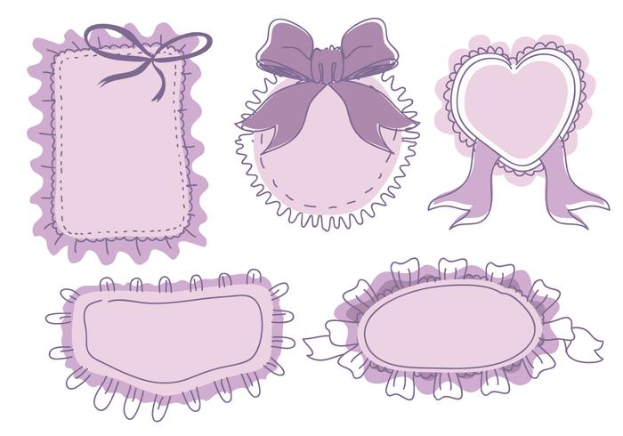 Banner Frame Frills Ornament Hand Drawn Vector