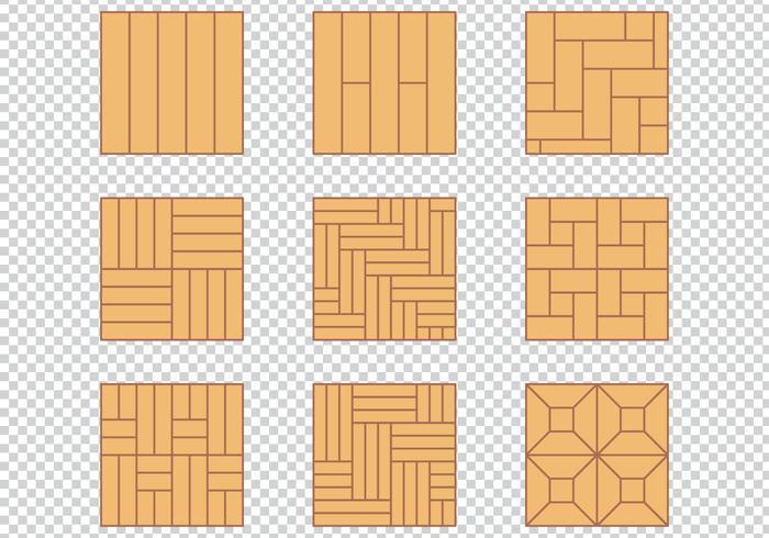 Conjunto de diseño de material de piso de madera