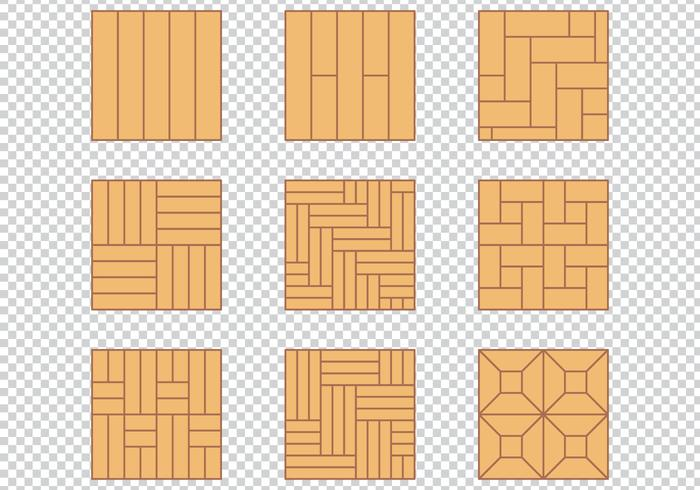 Wood Floor Pattern Material Design Set