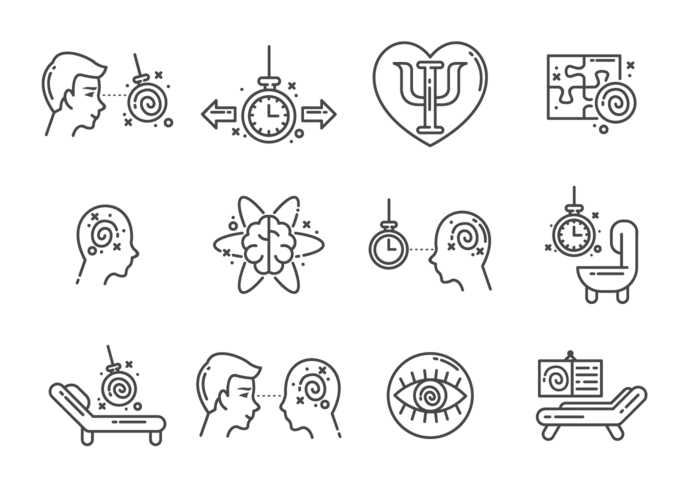 Hypnosis Icons Vector