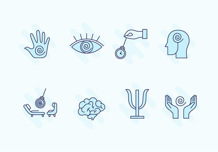 Hypnose Icon Set vector