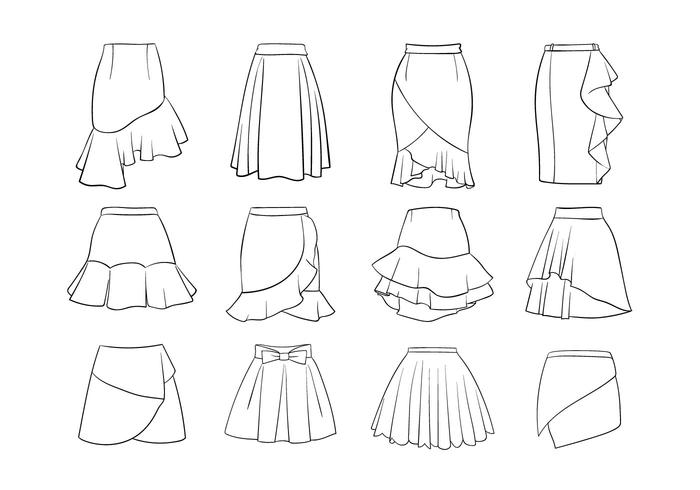 Set Of Different Women Skirts