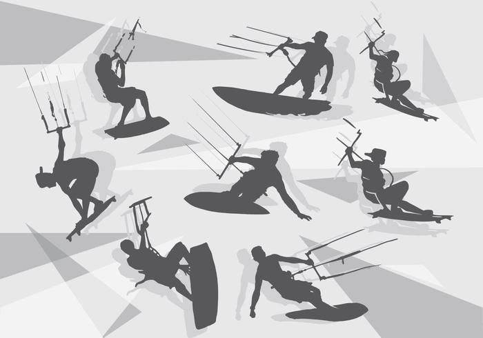 Paquete Silueta Kitesurfing