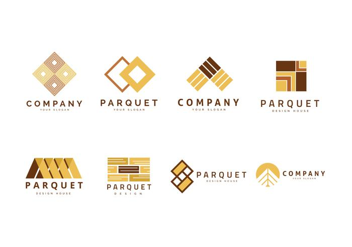 Logo for Parquet, Laminate, and Flooring Vector Collection