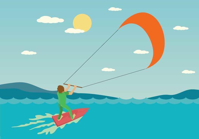 Ilustración de Kitesurf gratis