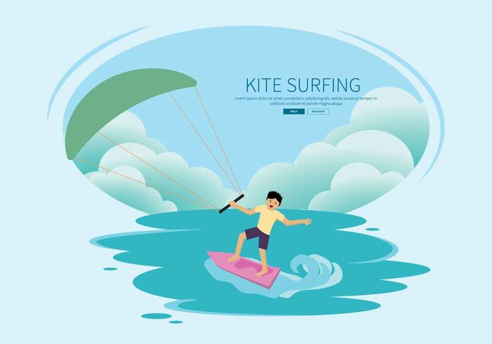 Free Kitesurfing Illustration vector