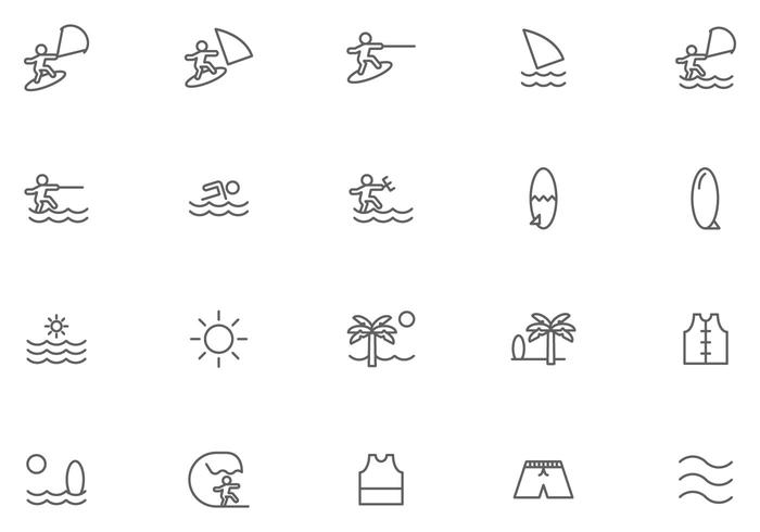 Kostenlose Kitesurfing-Vektoren
