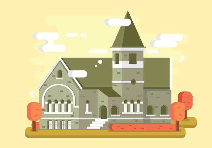 Vecteur gratuit de l'abbaye