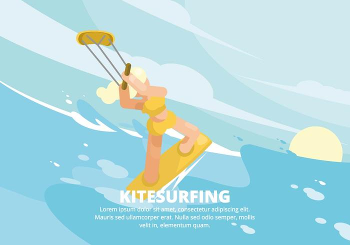 Kitesurfen Illustratie