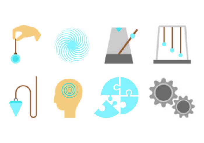 Set Of Hypnosis Icon