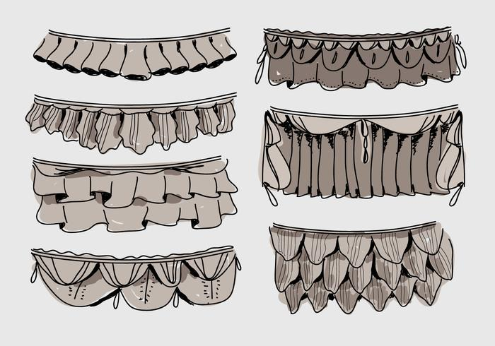 Frills Hand Drawn Vector Illustration