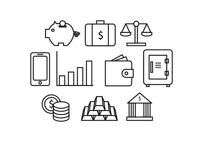 Vecteur gratuit d'icône de ligne d'argent