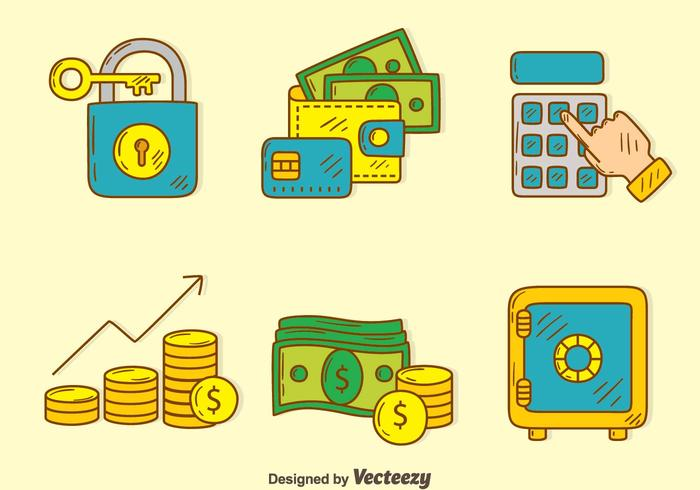 Hand Drawn Financial Element Vector