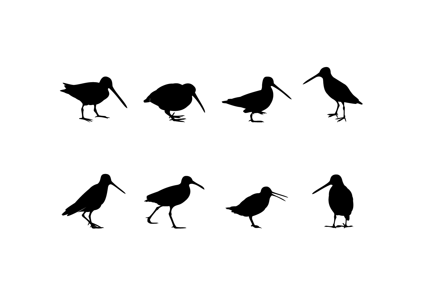 Silhouette Standing Snipe Free Vector - Download Free ...