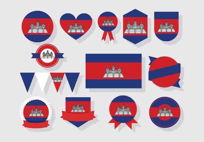 Cambodia Badges Vector