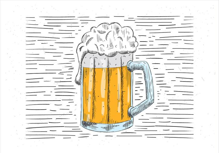 Free Hand Drawn Beer Illustration vector
