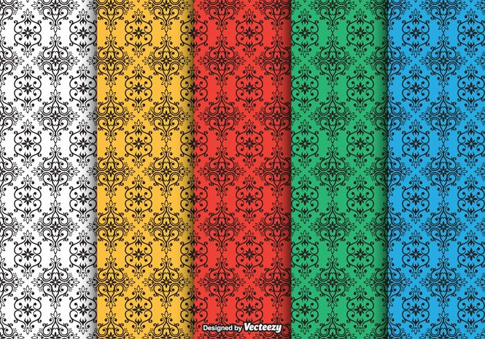 Dayak Ornament Seamless Vector Patterns