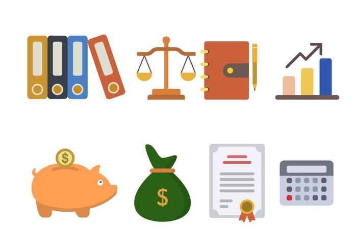 Flat Accountancy Vectors
